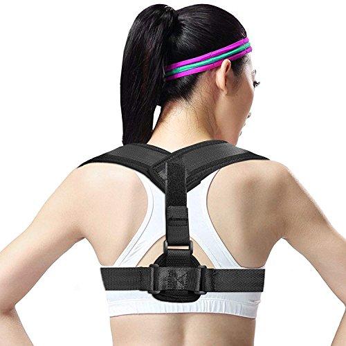 AUSEIN Corrección de Postura, Correas Ajustables y Transpirables, Corrector de Espalda,Cinturón de Corrección de La Parte Superior de La Espalda Ideal para Cifosis, Joroba o Hombros Encorvados
