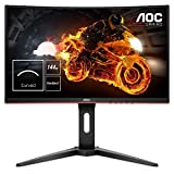 "AOC C24G1 Monitor Gaming Curvo da 24"", FHD 1920 X 1080 a 144Hz, 2 X HDMI, Nero"