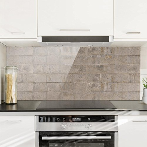 Bilderwelten Paraschizzi in vetro – Brick Concrete – Panoramico ...