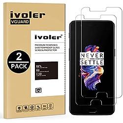 iVoler [2 Unidades] Protector de Pantalla para Oneplus 5, Cristal Vidrio Templado Premium