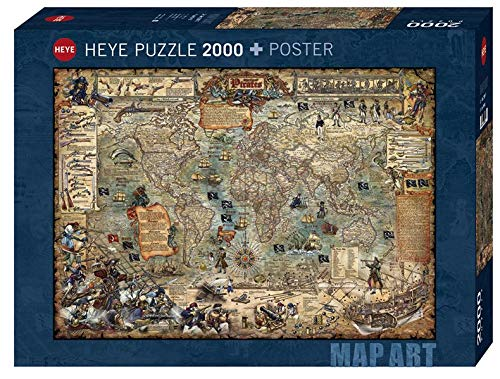 Heye 29847 Pirate World Stand Art 2000 Pezzi, Pop Art, con Poster