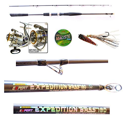 Kit Pesca Vertical Jigging Canna Expedition 2.10Mt + Mulinello + Treccia Inchiku