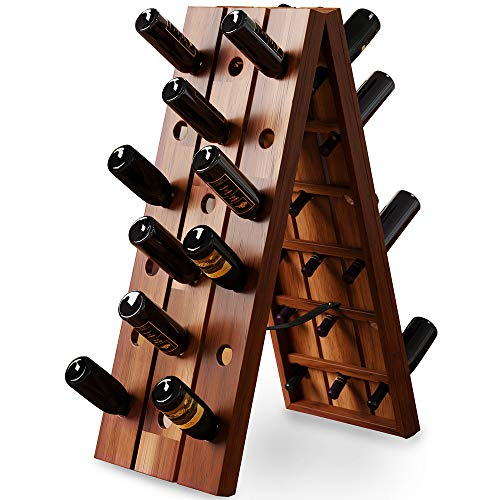 Deuba Scaffale per vino | finitura in legno duro di acacia | 36 bottiglie | dimensioni 87 x 40 x 55...