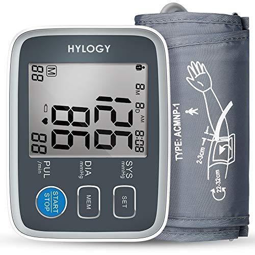 HYLOGY Tensiómetros de Brazo Memoria (2 * 90) (gris)