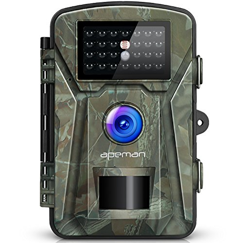 APEMAN Caméra de Chasse 12MP 1080P avec 26 Capteurs Infrarouges LED de...