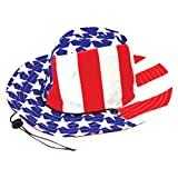 Stars and Stripes Cowboy Hat (Adult Size) USA Flag - Patriotic 4th of July Independance Day!