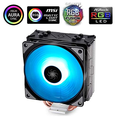 Deepcool Gammaxx GTE Black RGB Dissipatore per CPU 4 Heatpipes Ventola PWM da 120 mm RGB 12V 4-Pin...