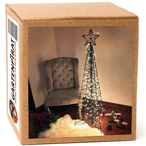 Albero Natale stella brillante LED 3D -1,5 m 260 LED outdoor