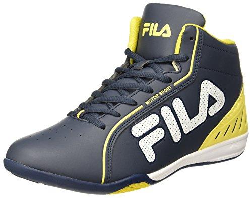Fila Men's Isonzo II NVY and YEL Sneakers - 8 UK/India (42 EU)(11004530)