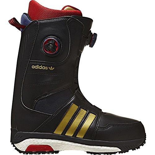Scarponi Snowboard Adidas Acerra Adv Core Nero-Scarlet-Footwear Bianco (Eu 42 / Us 8.5 , Nero)