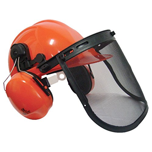 This one is definitely a bang for your buck. The Rockwood Chainsaw / Brushcutter Safety Helmet is Amazon's best selling helmet for the right reasons; fit's anyone, has earmuffs, adjustable visor, chain strap, and the construction is high quality. Leave alone the price that seems like a throwaway. We did find some issues with assembly but that should not take away from the functionality of this chainsaw helmet. A great choice for casual jobs.
