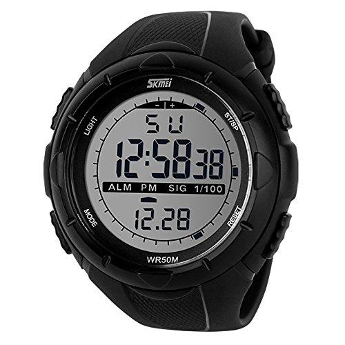 Skmei Sports Digital Black Dial Watch Men's and Boy's Watch - 1025BLK