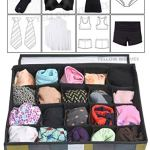 Yellow WeavesTM Undergarments Organizer/Foldable Storage Box with Lid for Drawers, Color - Multi 15