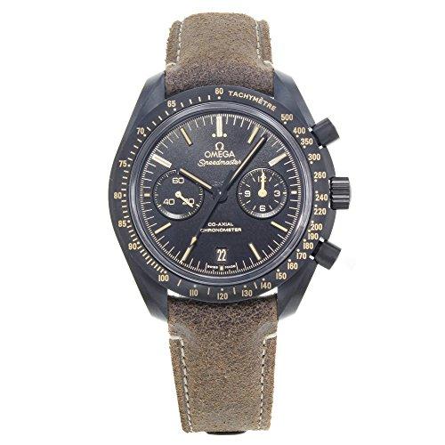 Omega Herren-Armbanduhr Speedmaster Moonwatch Co-Axial, schwarzes Zifferblatt, Chronograph, Automatikuhr, 31192445101006