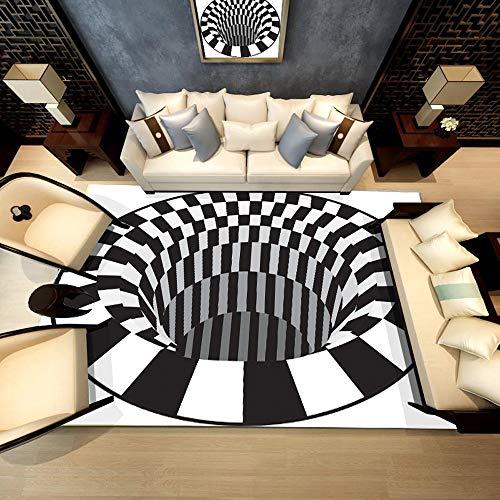 Gaddrt Area 3D Tappeto Shaggy Fluffy Anti-Skid Sala da Pranzo Carpet casa Camera da Letto Tappetino,...