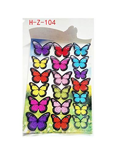 GGXC Etiqueta Engomada De La Pared De La Mariposa En Blanco Y Negro De 18 Piezas De Color 3D Calcomanía Casera De La Mariposa Estéreo Decorativa 04