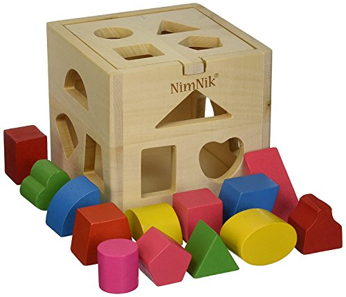 NimNik Wooden Shape Sorter Cube Toys - Classic Early Learning Toy for Toddlers Birthday Gifts, Essential baby toys, toys for every developmental stage, baby toys, must have baby toys, the best toys for babies, gift ideas for babies, Christmas baby gift ideas, gifts for babies