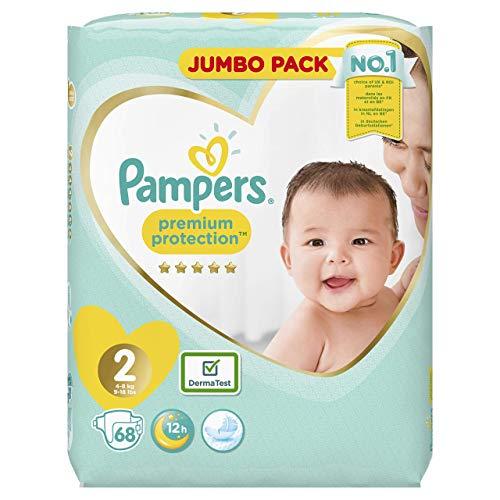 Pampers 81665629 Pannolini confezione Jumbo, Taglia 2 (4-8 kg), 1 confezione (1 x 68 pezzi)