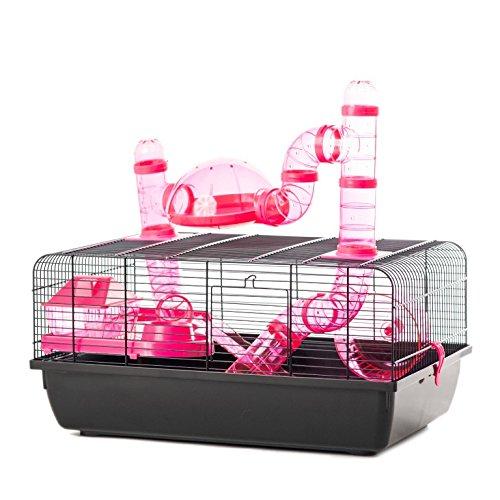 Little Friends Landmark animale gabbia con accessori, piccolo, 58x 38x 29cm, rosa