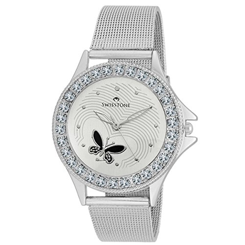 SWISSTONE Analogue White Dial Women's Watch - VOGLR501-WHT-CH