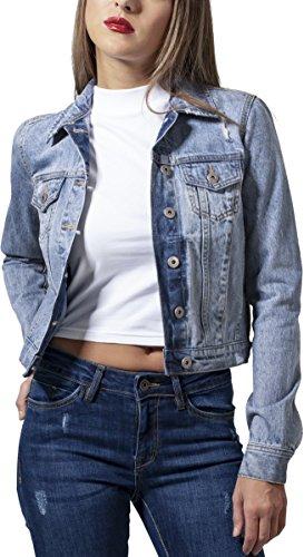 Urban Classics Damen Ladies Denim Jacket Jeansjacke, Blau (Bleached...