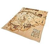 Il Signore degli Anelli - Coperta di ratina mappa Terra di Mezzo 200 x 220 cm Elbenwald beige