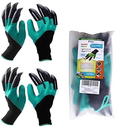 Eiito 2x guanti da giardino, medium/Large taglia 7–21,6cm