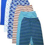 NammaBaby Baby Pajama Full Length Plain Pajama Allover Print- Set of 6