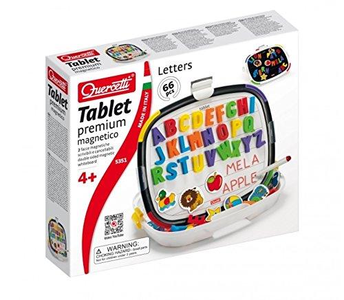 Quercetti 05351 - Gioco Tablet Premium Upper Case Letters