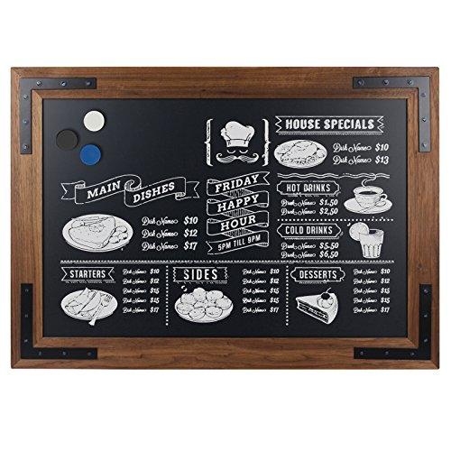 DISPLAY SALES - Lavagna in legno nera, lavagna magnetica da parete con cornice in legno 70x90 cm