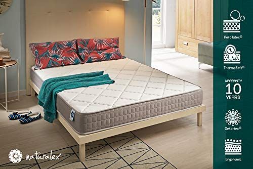 Naturalex - Viscorelax - Materasso Matrimoniale 160x190 Cm Memory Foam e Lattice Alta Densitá con...