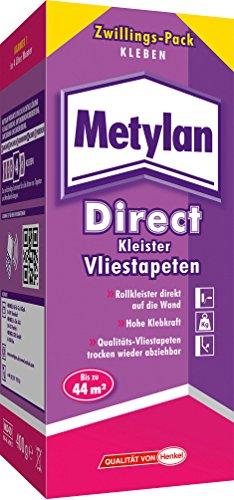 Metylan Direct Kleister für alle Vliestapeten / Professioneller, starker Kleister für bis zu 44m²...