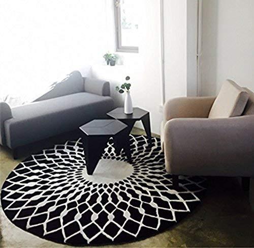 Elegante vivere tutto l'ambiente tavolino in bianco e nero grande tappeto ( dimensioni : 160CM )