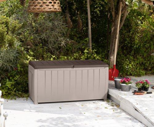 KETER Chalet et jardin – 12-666071 Coffre de Rangement avec Assise ...
