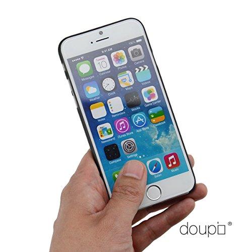doupi UltraSlim Custodia per iPhone 8/7 (4,7 Pollici), Carbon Fiber Look Fibra di Carbonio ottiche Piuma Facile Cover, Nero