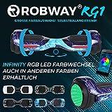 Robway RG1 Hoverboard - Das Original - Self Balance - 11 Farben - Bluetooth - 2 x 350 Watt Motoren - App (Infinity Space Blue)