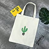 Bolsa Estilo Simple Y Casual Con Cactus Ideal Para Playa