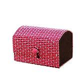 Ukallaite elevata creativo in legno di bambù di cute Jewelry Storage organizer box, Rose, 9cm x 6cm x 6cm