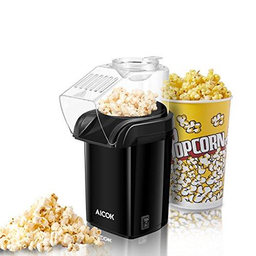 Popcornmaschine, Aicok 1200W Heißluft Popcorn Maker für Zuhause zum selber machen, Fett Fettfrei...