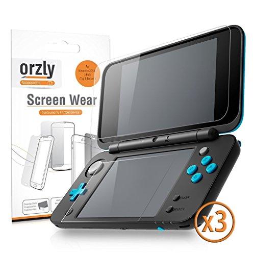 Pellicole Protettive 2DSXL, Orzly Confezione Multipla di 6 Pellicole (3 per l'alto schermo e 3 per il basso schermo) - 100% TRANPARENTE per New Nintendo 2DS XL (Versione 2017)