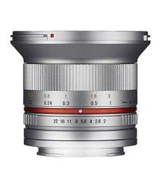 Samyang F1220510102 - Objetivo fotográfico CSC-Mirrorless para Fuji X (distancia focal fija 12mm, apertura f/2-22 NCS CS, diámetro filtro: 67mm), plateado