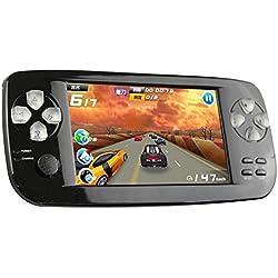 CXYP Handheld Spiele Konsolen, 4,3 Zoll 4GB Portable Video Game Errichtet in 600 Spiele mit Kamera (Schwarz)