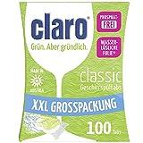 Claro Classic XXL - 100 Tablettes Pour Lave-Vaisselle Écologiques Sans Phosphates En Format Économique