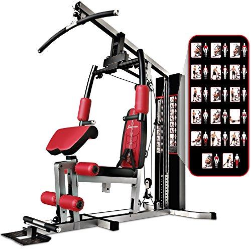 Sportstech VAINQUEUR du Test* La Station de Musculation Premium 30en1 HGX100 de pour des Variantes d'entraînement innombrables. Home-Gym Mul... 22
