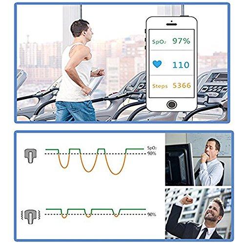 Lunasea sans fil apnée du sommeil Obstructives Aid tracker moniteur de fréquence cardiaque et SPO2Oxymètre de pouls Alarme 12