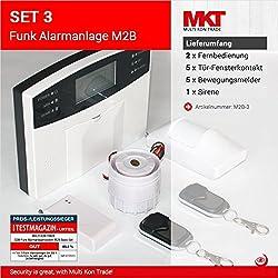 Set 3: M2B GSM Funk Alarmanlagensystem mit LCD Display
