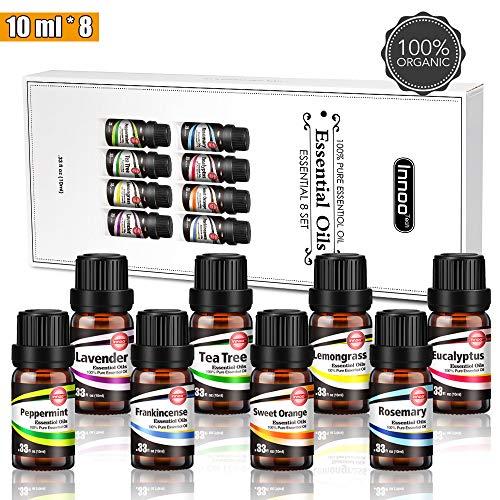 Oli Essenziali per Diffusore 8 Set-Aumento della concentrazione del 10-20%, Aromaterapia Olio...