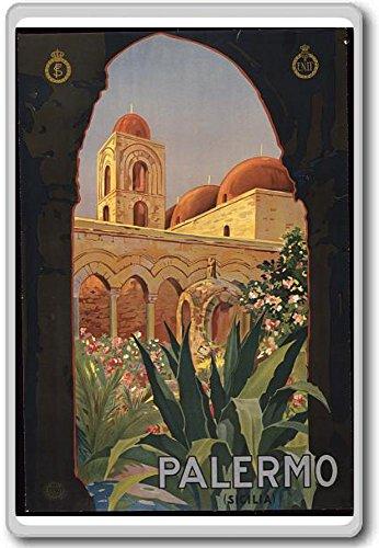Palermo, Italy, Europe - Vintage Travel Fridge Magnet - Calamita da frigo