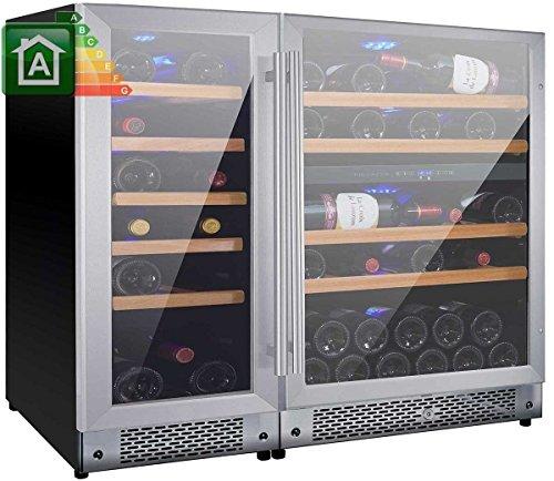 Cantina vini da 66 bottiglie mobile cantinetta Nevada NW66T-S 3 Temperature da _5°C a _22°C...