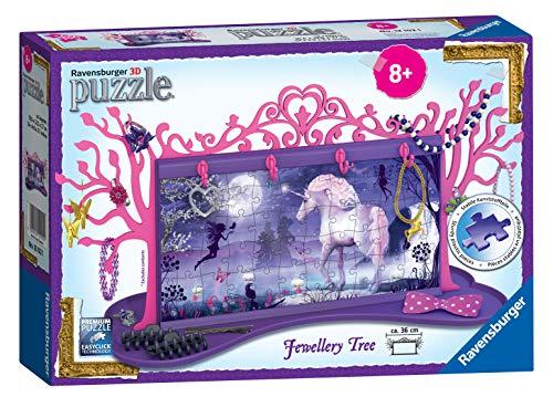 Ravensburger portagioie 12101 My 3D Boutique, a forma di albero, con design a unicorni, a puzzle da...